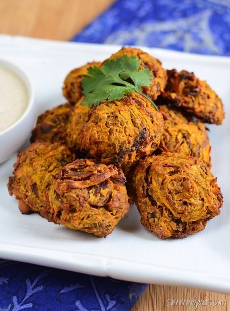 Slimming Eats Oven Baked Onion Bhaji - gluten free, dairy free, Vegetarian, Slimming Eats and Weight Watchers friendly