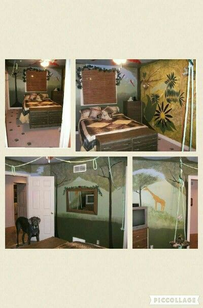 my daughter wanted a jungle theme room