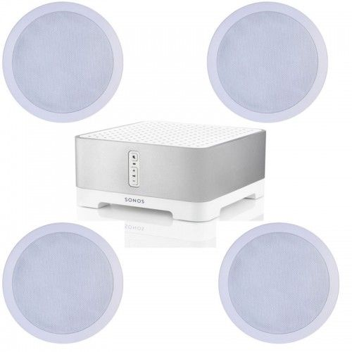 SONOS 1 Zone with 4 Ceiling Speakers inc Free Cable