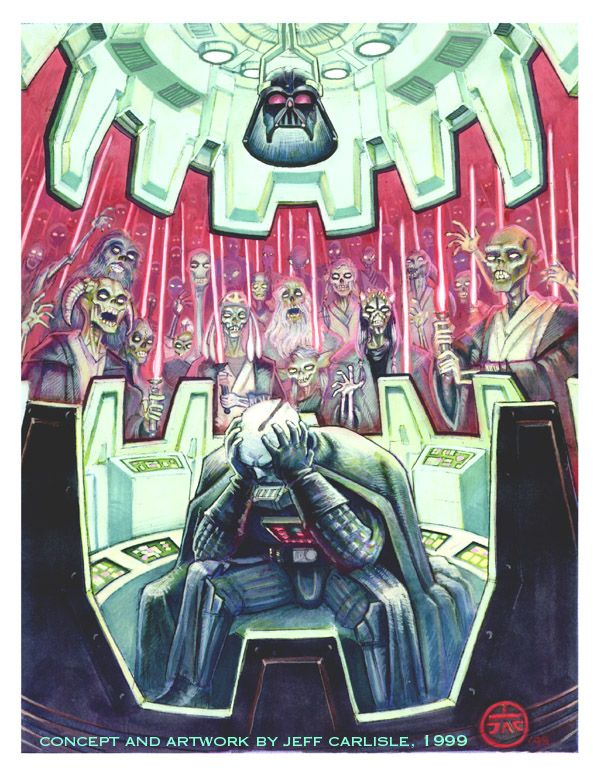 Regret... #starwarsart #Darthvader