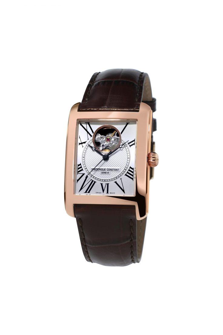 """Frédérique Constant associe son """"Heart Beat"""" avec une montre carrée"""