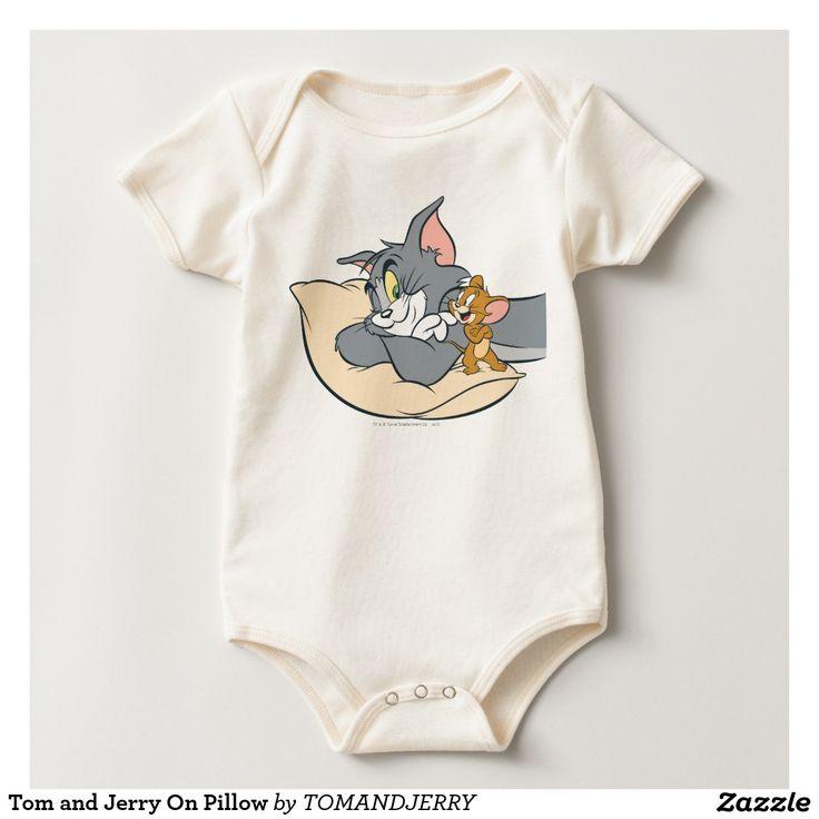Tom y Jerry en la almohada Mameluco. Regalos, Gifts. #camiseta #tshirt