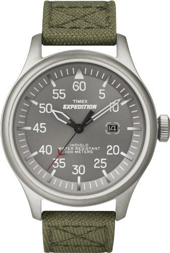 $42.97 Timex Men's T49875 Expedition Military Field Gray Dial Green Nylon Strap Watch: Watches: Amazon.com