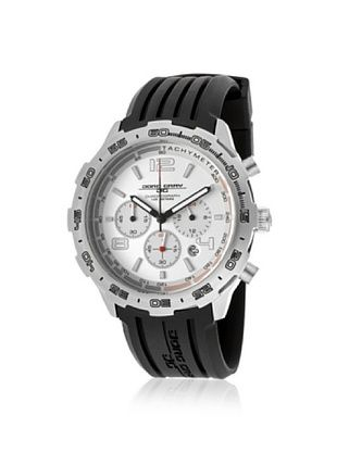 63% OFF Jorg Gray Men's JG1600-11 Black/Silver Rubber Watch