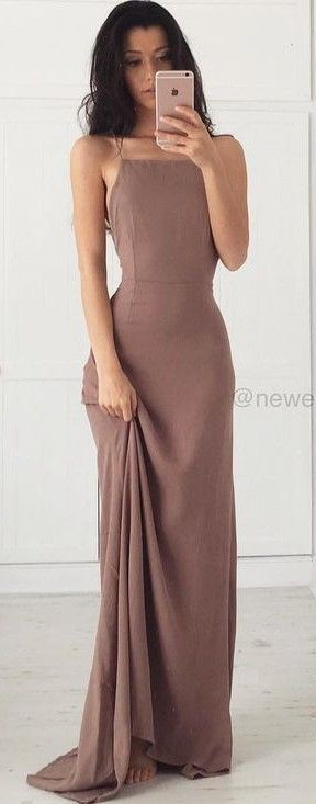 Chocolate Tie Back Maxi Dress