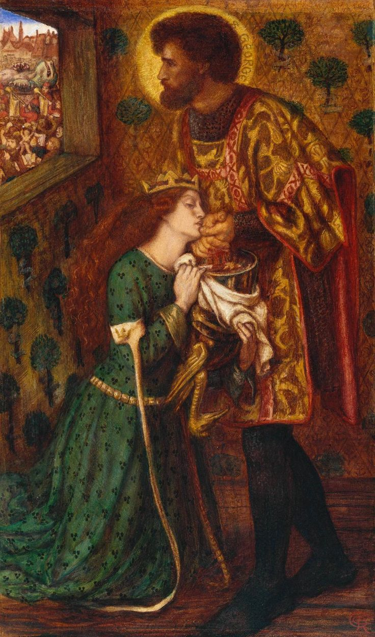 Dante Gabriel Rossetti, St George and the Princess Sabra, 1862, Watercolor on paper, 52,4 x 30,8 cm, Tate Gallery, London