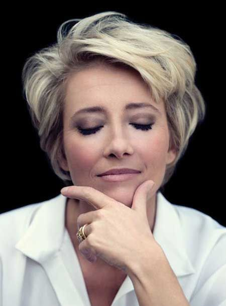 Casual Everyday Frisuren für Frauen Kurzes Haar -- also Emma Thompson