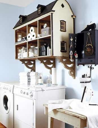 re-purposed dollhouse