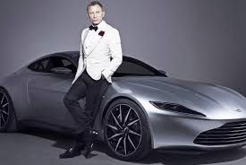 What's not to like here? Cool Car, James Bond in a Dapper Tuxedo