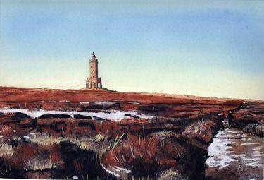 "Saatchi Online Artist Billy Almond; Painting, ""Darwen Moor"" #art"