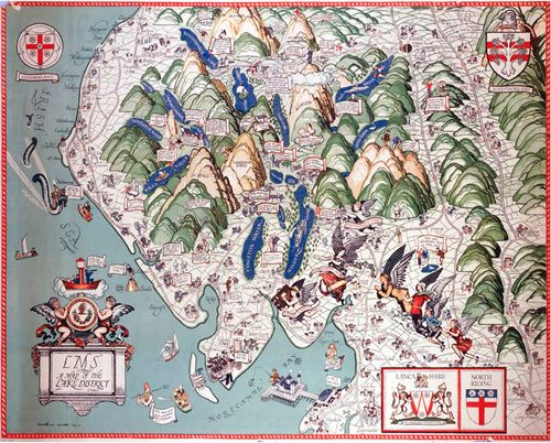 Lake District Map Art Print by National Railway Museum at King & McGaw