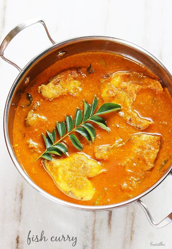 Fish curry recipe with step by step photos. Simple fish gravy made with basic ingredients, goes good with rice or chapathi