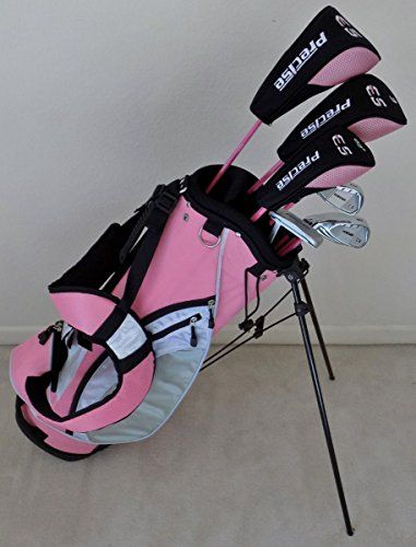 Ladies Left Handed Complete Golf Club Set Graphite Shafted Pink Color LH