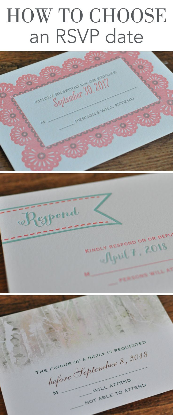 Invitations by Dawn shares important wedding rsvp