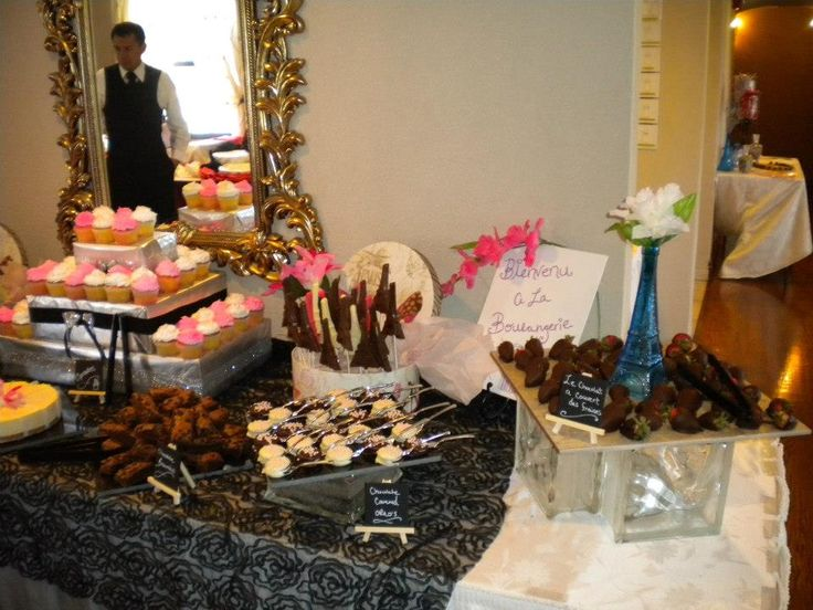 Here Is The Paris Themed Candy Table