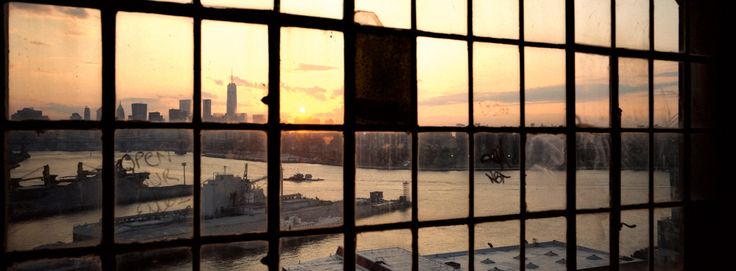 Sunset through that famous Brooklyn window