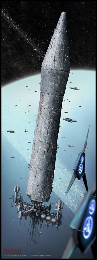 Xiphos Hamilton cylinder artwork for Eclipse Phase by Mark Molnar, Creative Commons by-nc-sa licensed