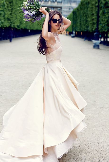 Flirty Wedding Dress with Stylish Details
