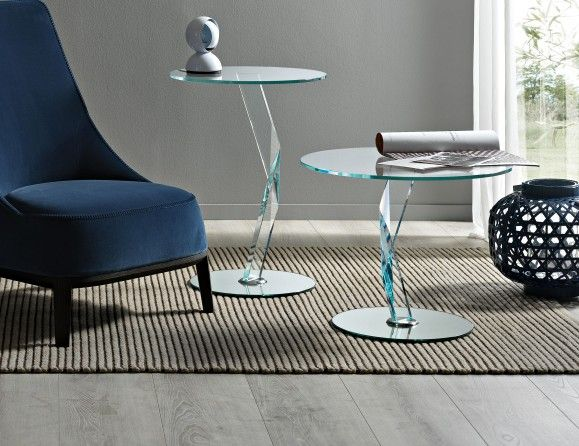 Nella Vetrina Modern Italian Designer Glass Small End Table And Accent Table  Handmade And Shown In