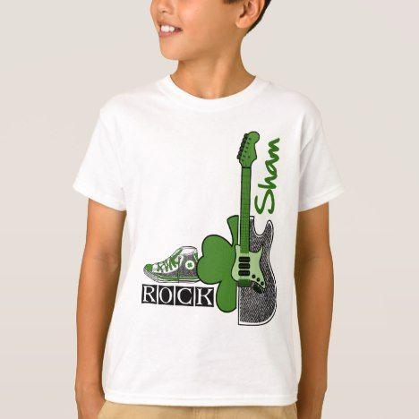 Sham Rock. St. Patrick's Day T-Shirts #stpatricksday #kids #clothing