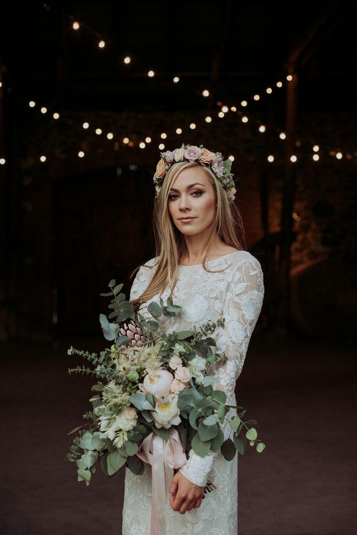 rustic wedding / bridal bouquet / fot. Ola Gruszka Fotografia