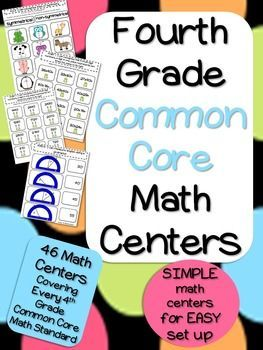 4th Grade Common Core Math Centers