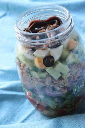 """Het lekkerste recept voor """"Salade niçoise in a jar"""" vind je bij njam! Ontdek nu meer dan duizenden smakelijke njam!-recepten voor alledaags kookplezier!"""