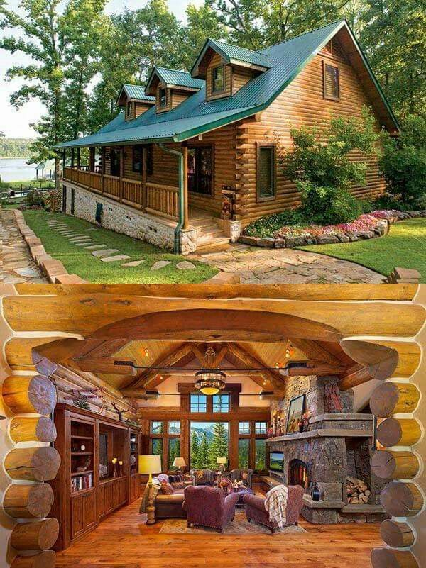 I D Have Different Built Ins Log Cabin Rustic Log Cabin Homes Cabin Homes