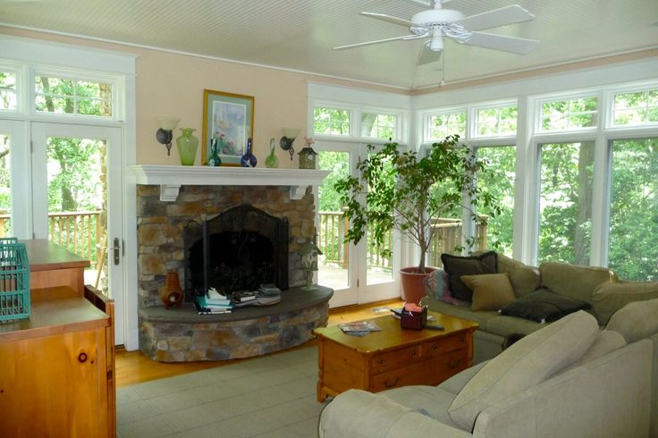 1000 images about sunroom with fireplace on pinterest