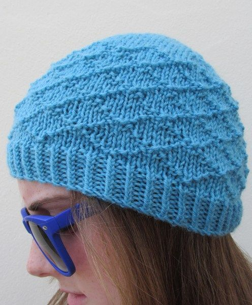 Turquoise Handknit Beanie from Donnelly Knitwear by DaWanda.com