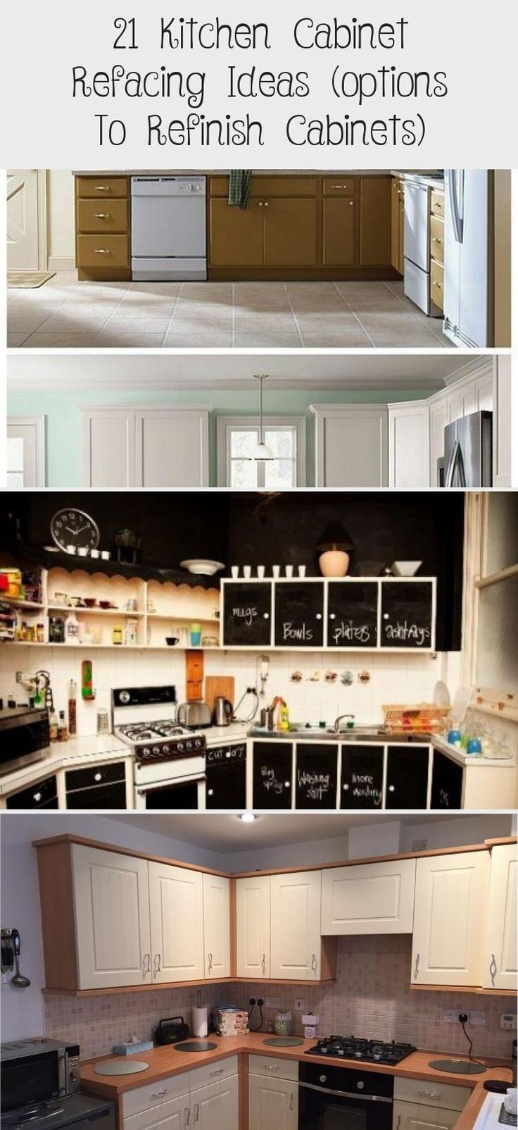 21 kitchen cabinet refacing ideas options to refinish cabinets refacing kitchen cabinets on kitchen cabinets refacing id=84405