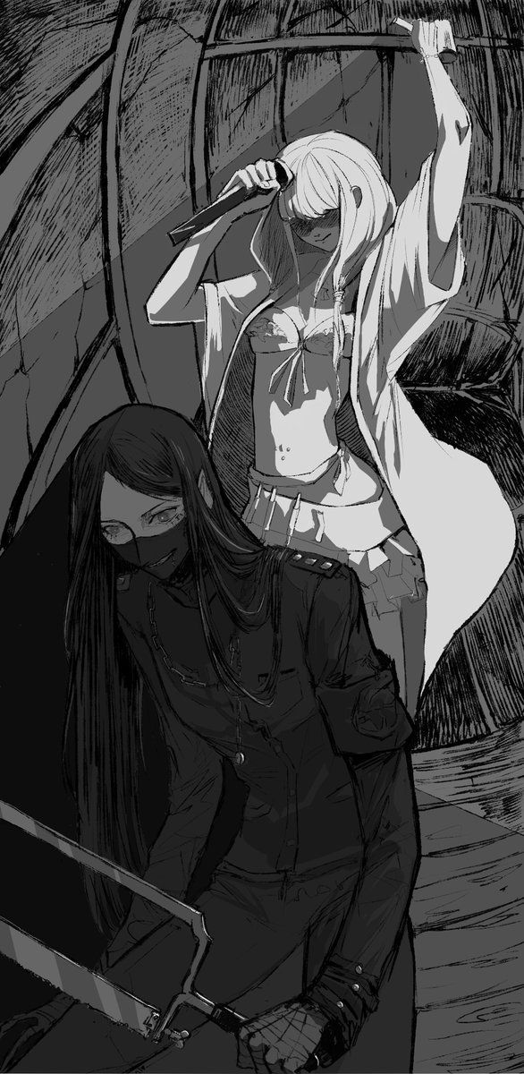 I like this alternative, although it states in Angie's art book that she WOULD NEVER kill someone.