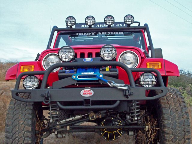 jeep front bumpers | Body Armor 4x4 Jeep Front Tubular Bumper Grille Guard YJ TJ 1987 2006 ...