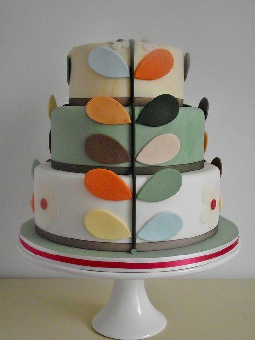 Orla Kiely inspired cake