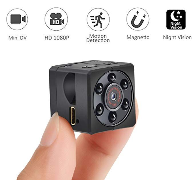 Spy Hidden Camera 1080p Portable Small Hd Nanny Cam With Night Vision And Motion Detective Perfec Security Cameras For Home Home Security Systems Hidden Camera