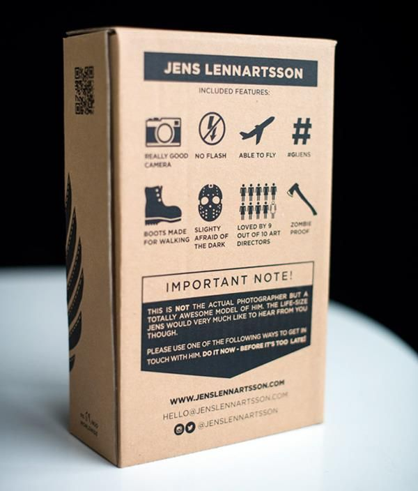 Self promotion box #packaging
