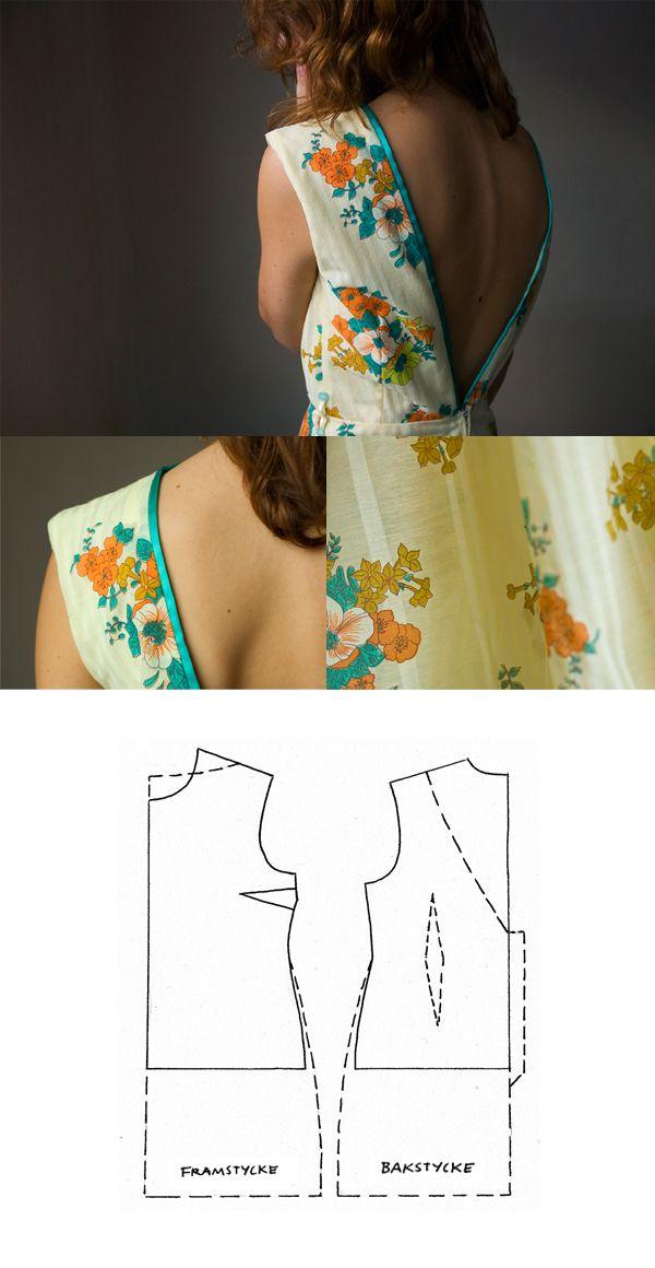 sy klänning, sytips, sy v-rygg, syinspiration, makeityourown, syblogg