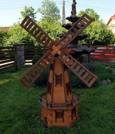 wooden garden windmill - Google Search