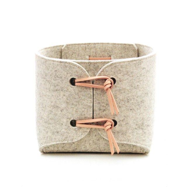Large storage baskets - set of two by Scandinavian Skandinavious Louise Vilmar - Nordic Design Collective