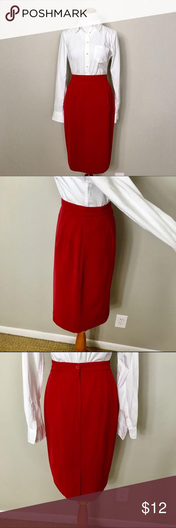 Vintage red pencil skirt Vintage red pencil skirt. Similar to modcloth Skirts Pencil