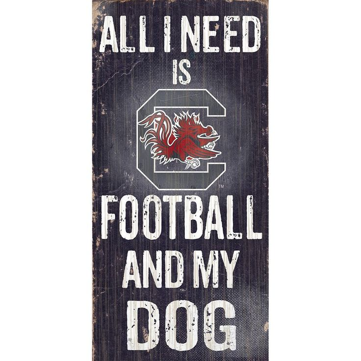 South Carolina Gamecocks Football & My Dog Sign, Multicolor