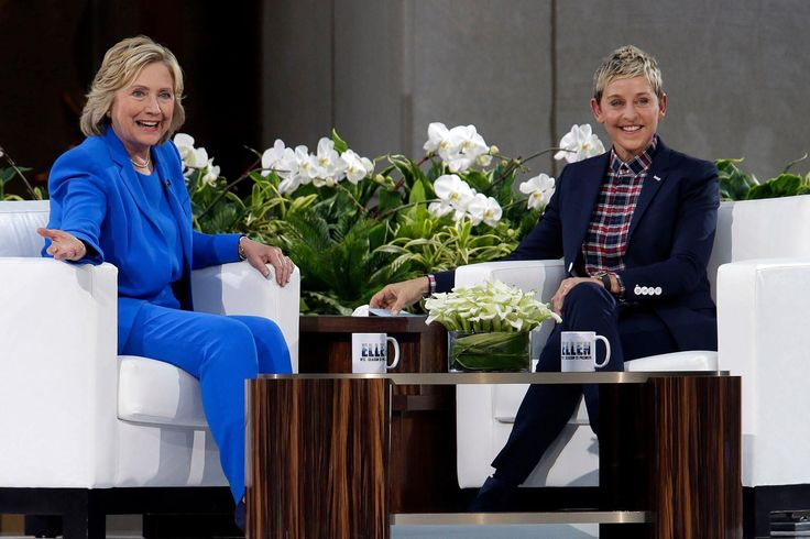 Hillary Clinton visited 'The Ellen Degeneres Show' in New York to talk about her emails, her granddaughter, and Kanye's presidential run.