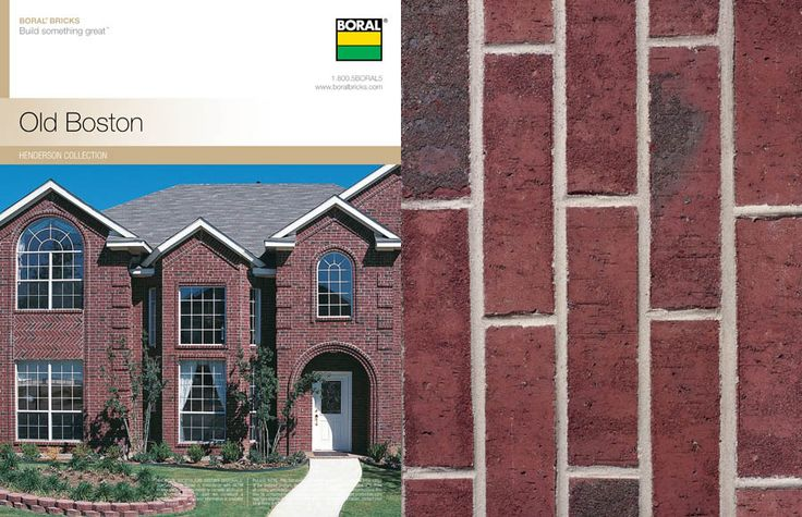 Old Boston Boral Brick Brick Colors Brick Brick