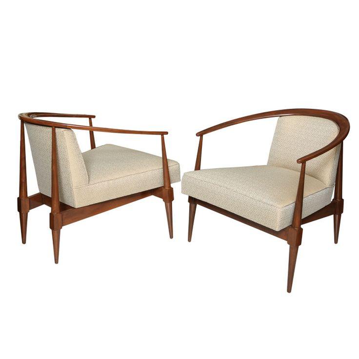 A Pair Of Italian Modern Chairs, By Silvio Cavatorta