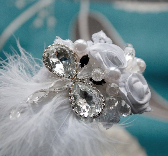 Wedding hairband  Dragonfly crystal by wandadesign on Etsy, €30.00