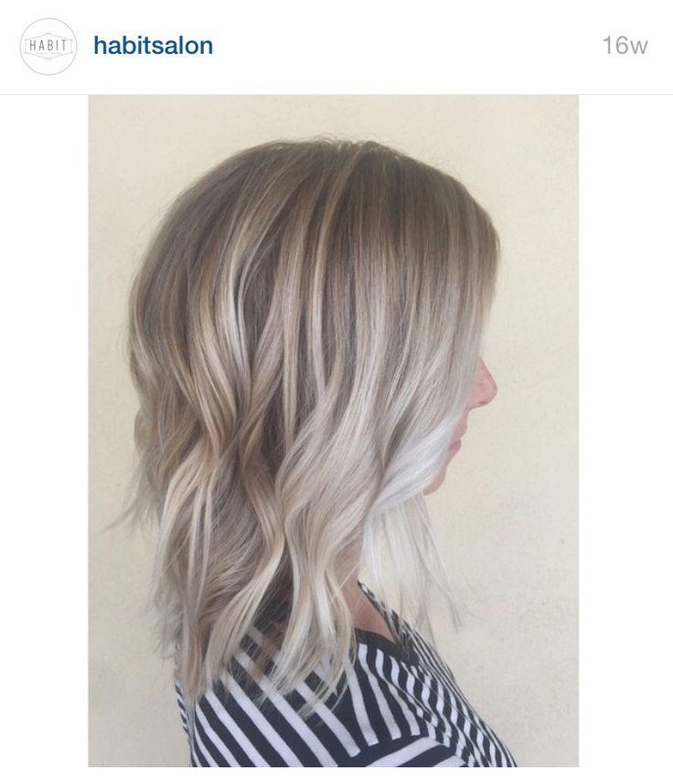 Ash Blonde Hair With Platinum Balayage From Habitsalon