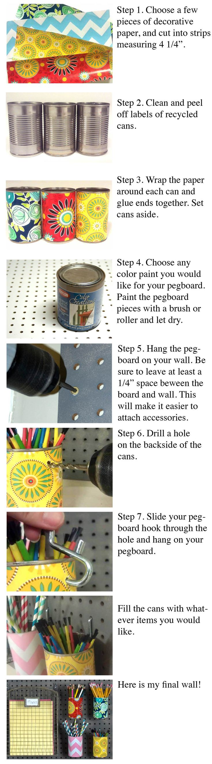 Learn how to create new looks with pegboard and accessories!