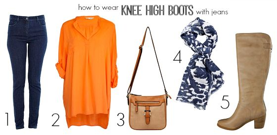 How to wear knee high boots with jeans