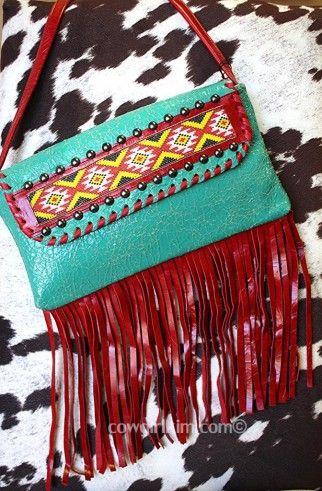 Kurtmen Design Unique Beaded, Leather & Fringe handbag!!! http://www.cowgirlkim.com/kurtmen-design-unique-beaded-leather-fringe-handbag.html