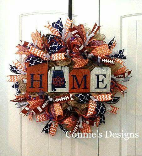 Custom Auburn University Wreath!!! Bebe'!!! So colorful!!!